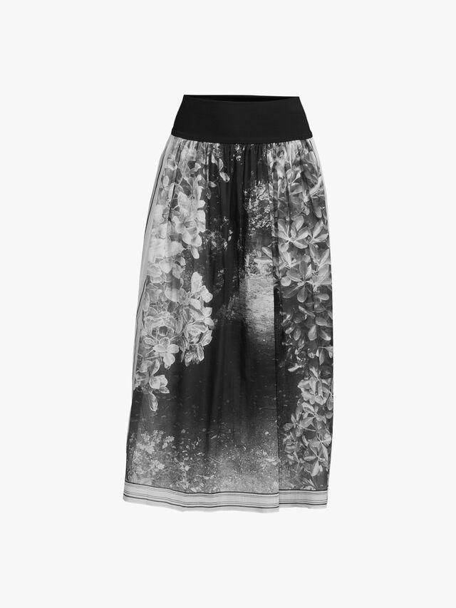 Photo print skirt