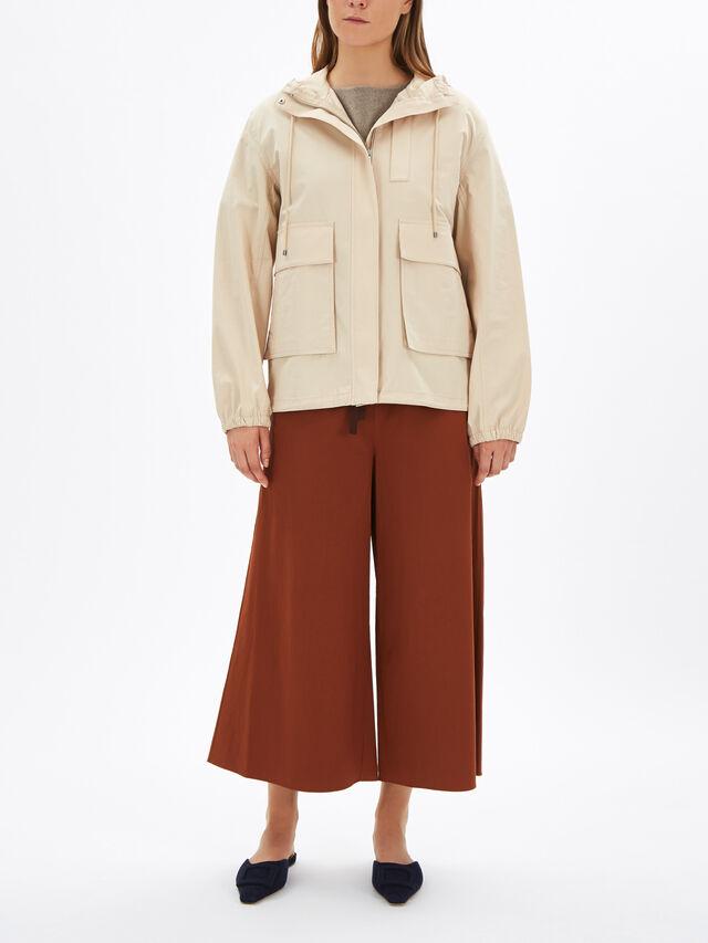 Hooded Pocket Detail Anorak