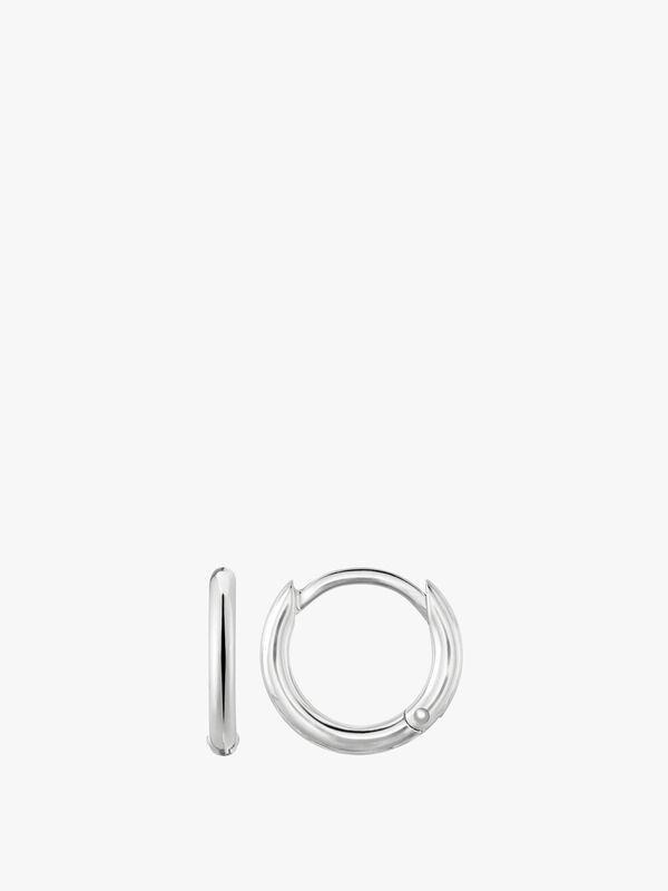 Plain Silver Hoop Earring