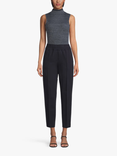 Ponte-Elastic-Waist-Tapered-Trouser-L1WI39