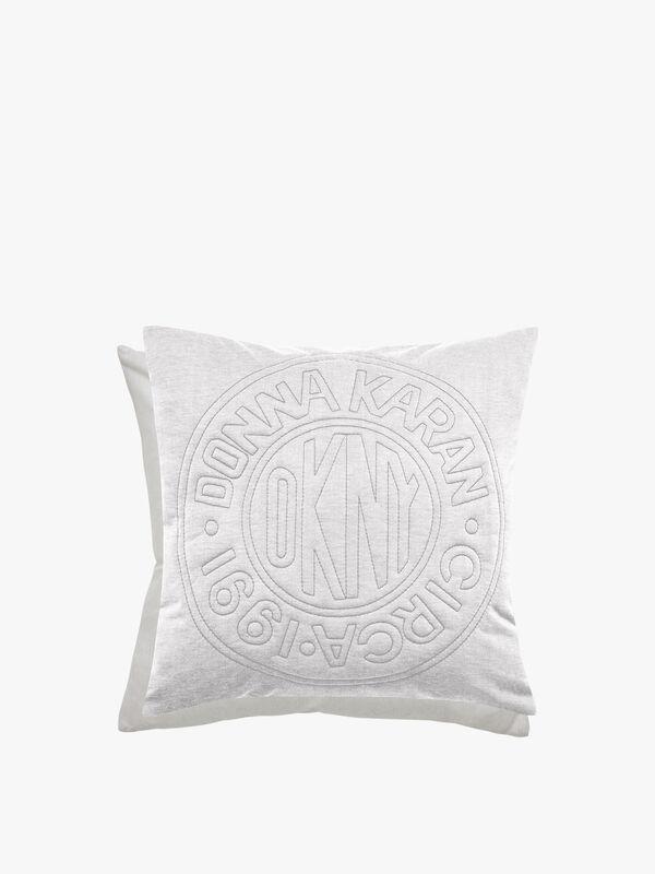 Circle Logo Cushion Silver
