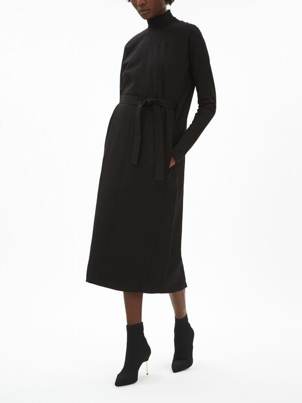 Turtleneck Dress With Belt