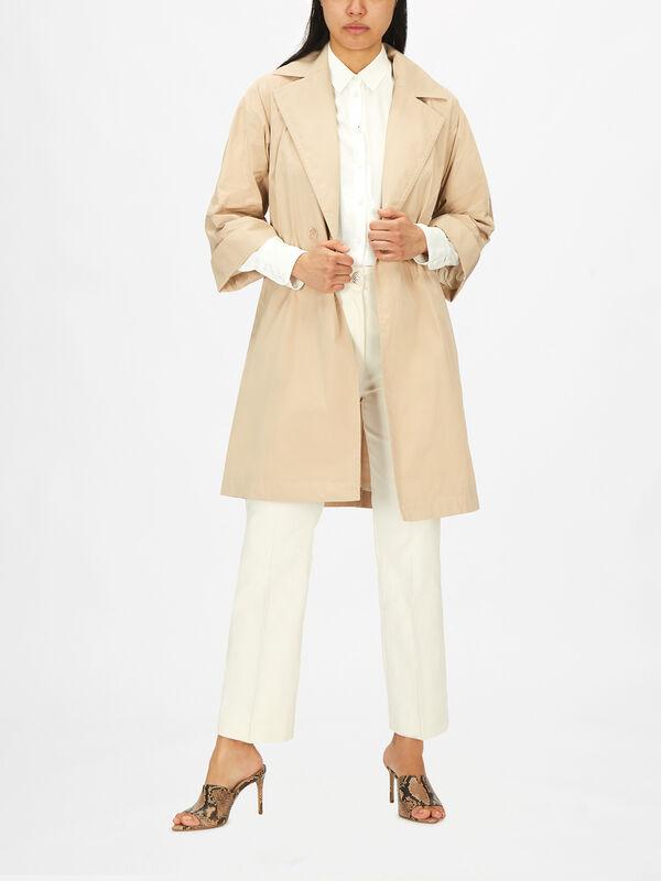 Madia Belt Tie Coat