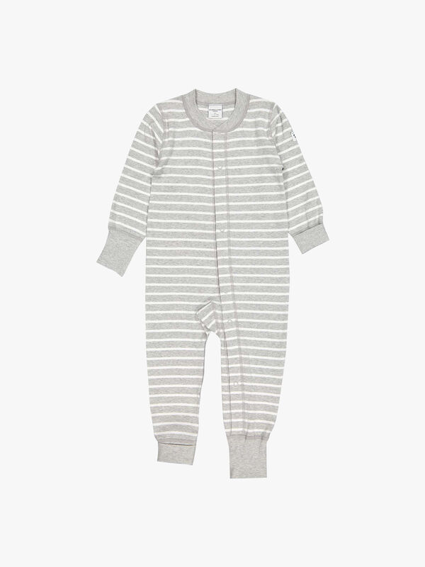 Striped GOTS Organic Baby All-in-one