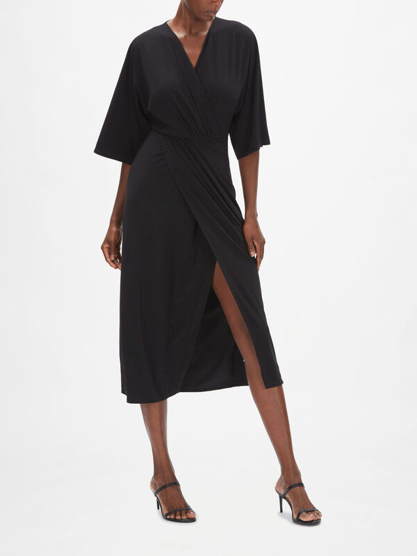 Leisure Canore Jersey Wrap Maxi Dress