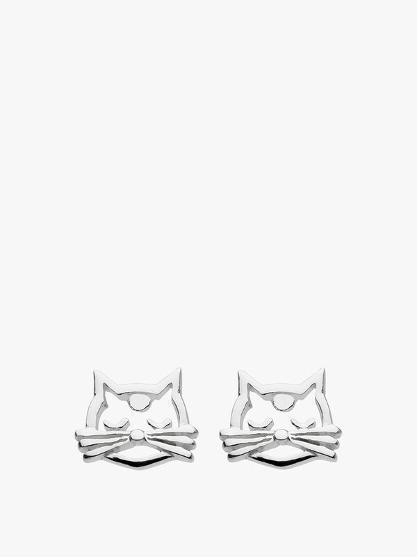 Dew Dinky Cat Whisker Studs