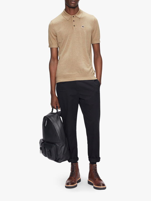 HAWORTH Short Sleeve Knitted Polo