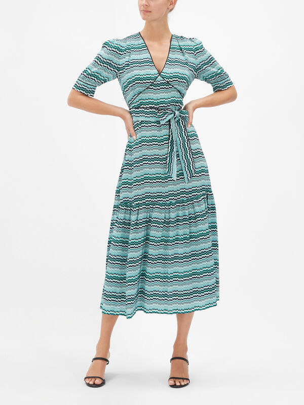 Maisie Ruffle Hem Maxi Tea Dress
