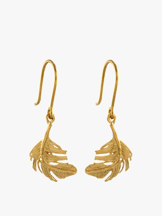 Feather Drop Earings
