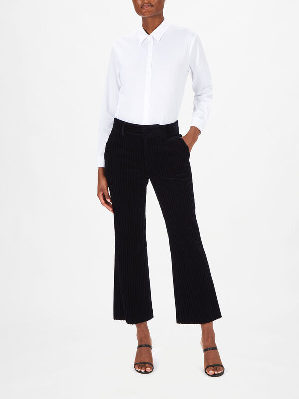 Ribbed Velvet Trouser