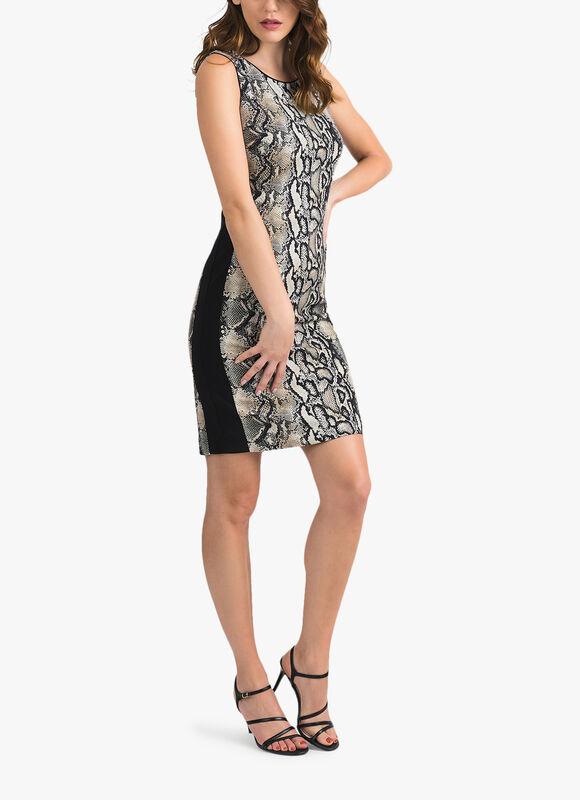 Python Print Exposed Zip Dress Sless