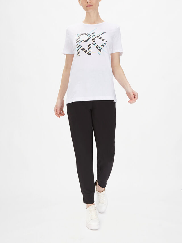 Logo Stripe Glitter T Shirt