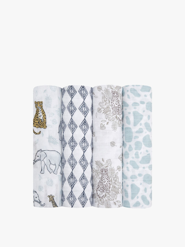 Jungle Theme Swaddle 4 Pack
