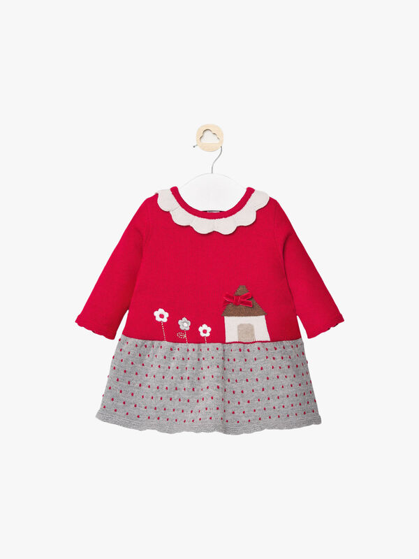 Knitted House And Spot Dress