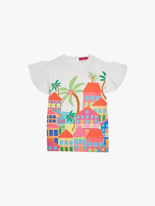 Village Print Dress