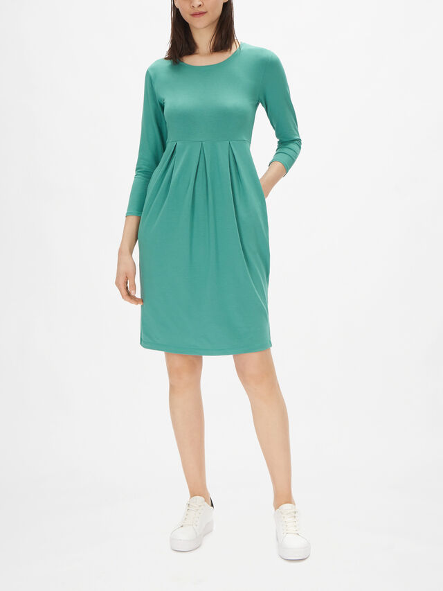 Noma Cropped Sleeve Jersey Midi Dress