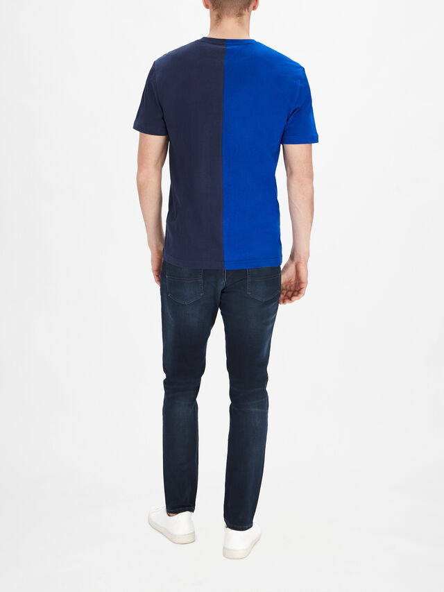 Half And Half Linear Logo T-Shirt