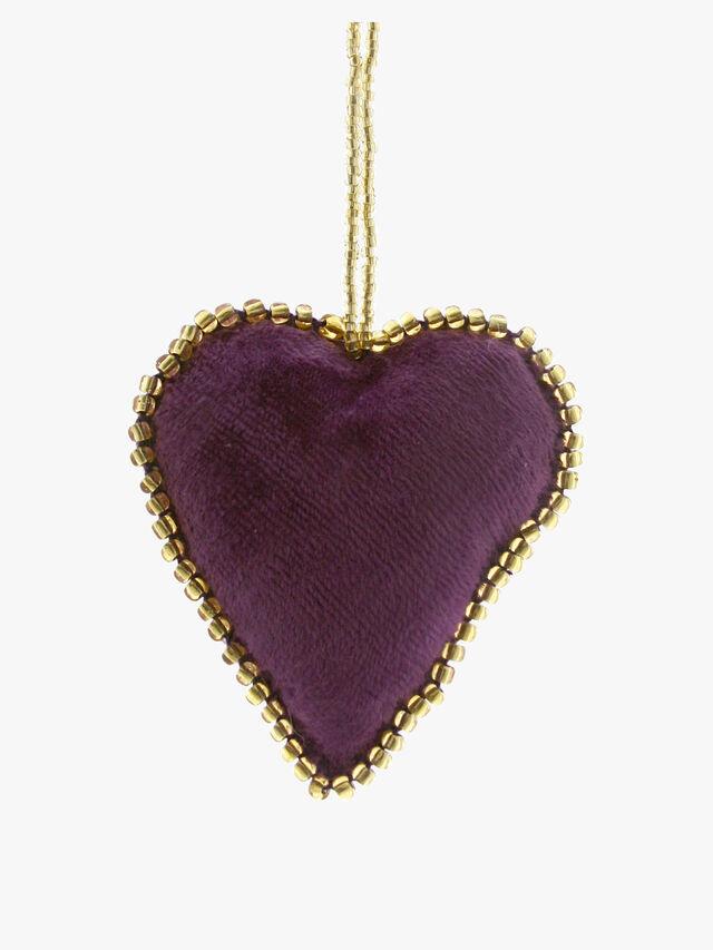 Velvet Heart Purple Decoration
