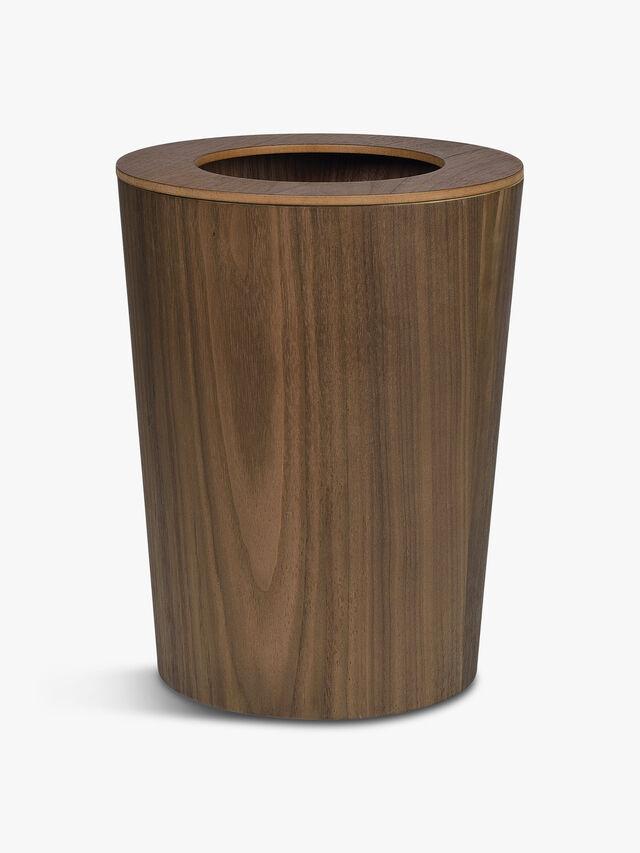 Walnut Paper Bin