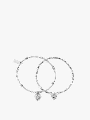 Heart Bracelets Set of 2