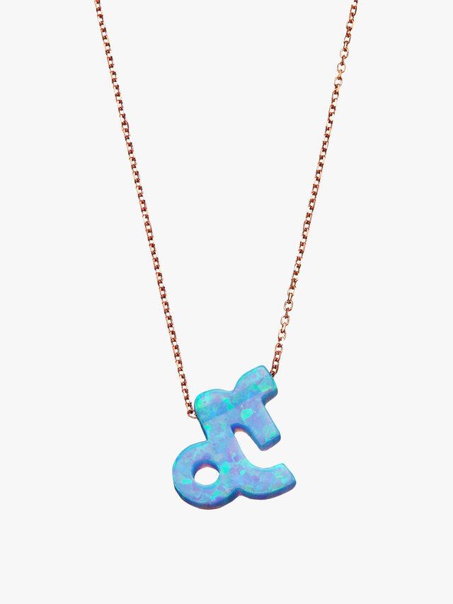 Capricorn Opal Zodiac Necklace