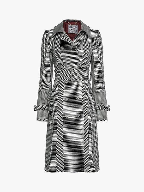 Zendaya Houndstooth Trench Coat