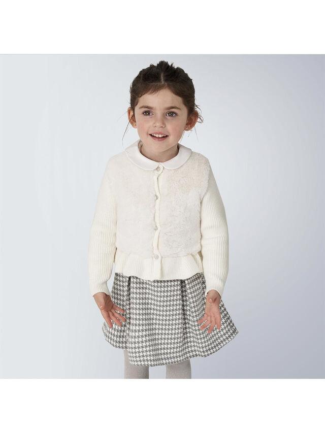 Faux Fur Knit Cardigan