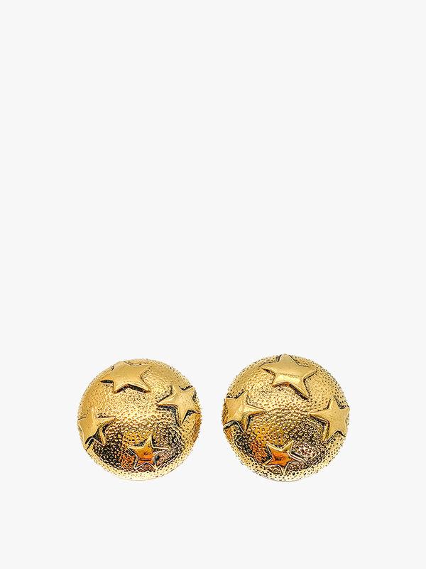 Vintage Valentino Gold Star Earrings
