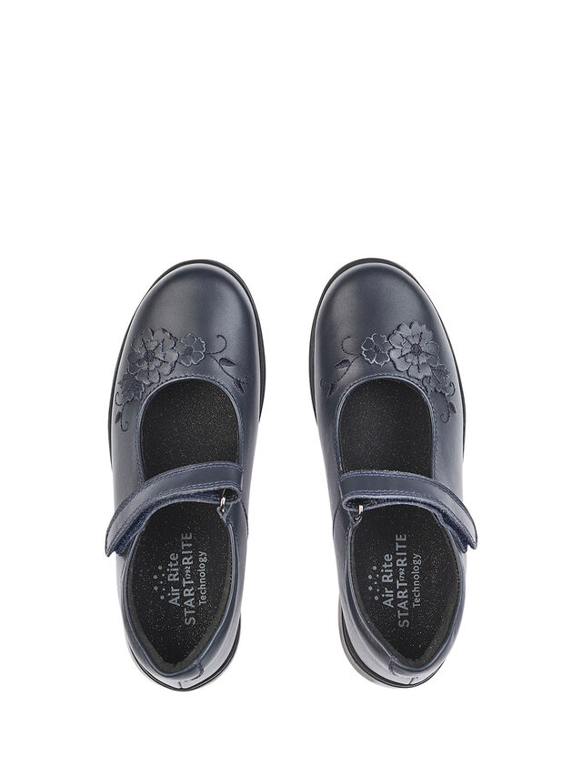 Wish Navy Leather School Shoes