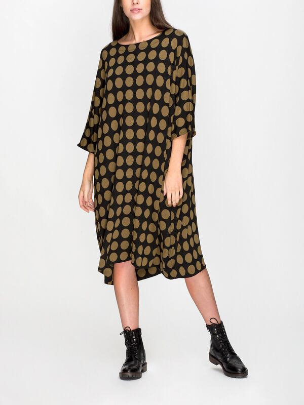 Nujanka Spot Print Jersey Dress