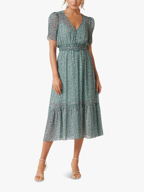 Freya Gather Sleeve Midi Dress