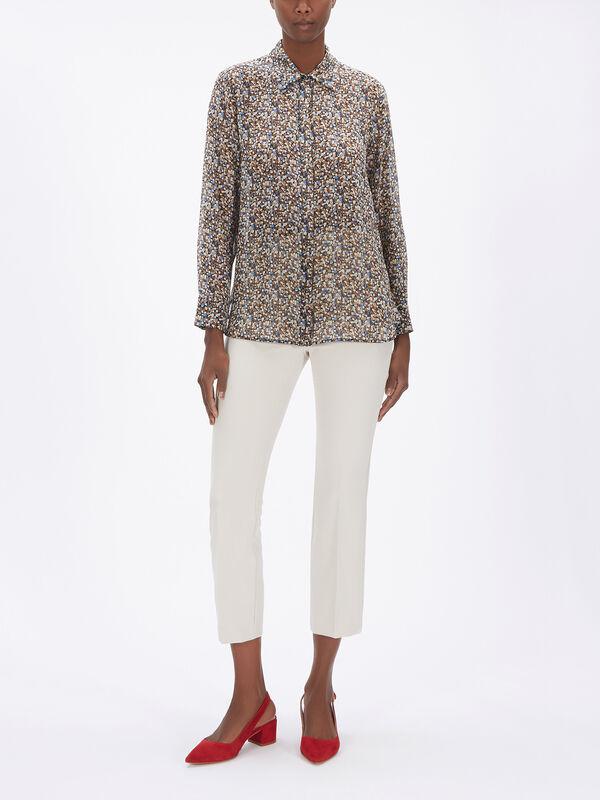 Mulino Leopard Print Silk Shirt