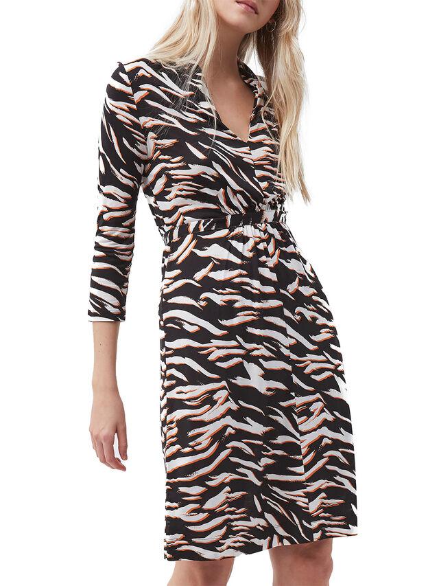 Thita Iger Tiger Long Sleeve Jersey Dress