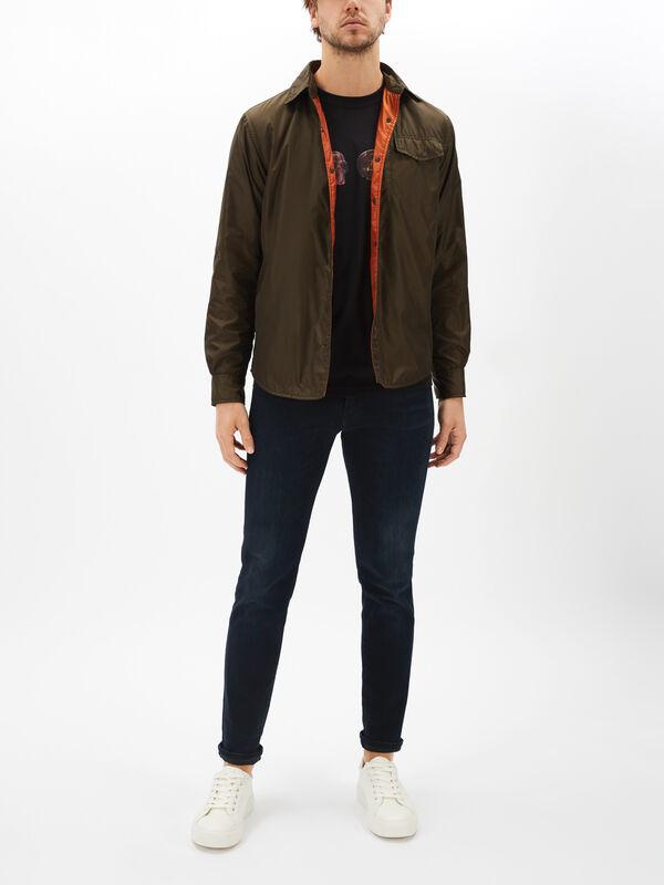 Bi Colour Nylon Overshirt