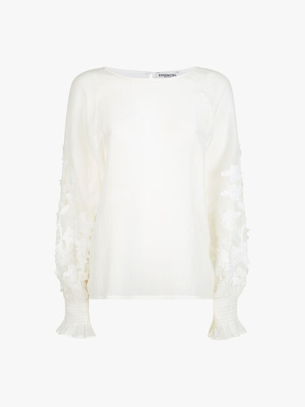 Applicated Lace Top