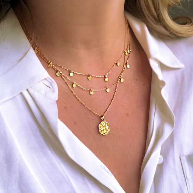 Vintage Crest Pendant Necklace