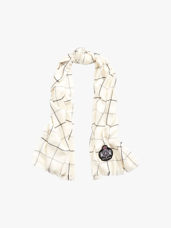 Windowpane Wrap Scarf