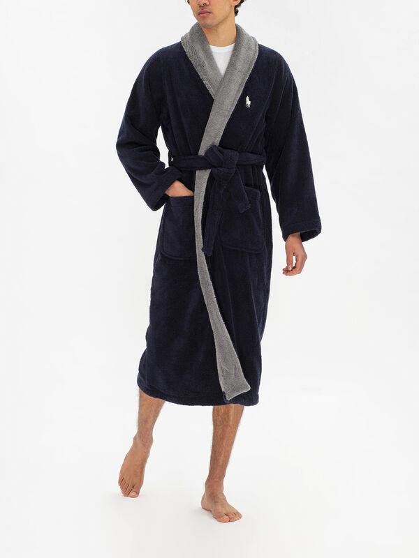 Long Sleeved  Shawl Robe