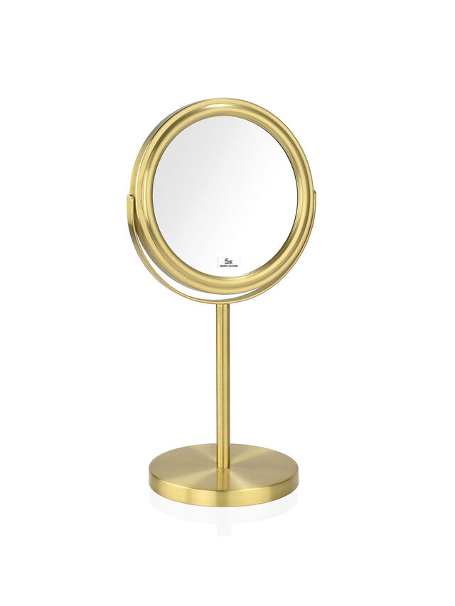 5x Gold Double-Sided Magnifying Mirror