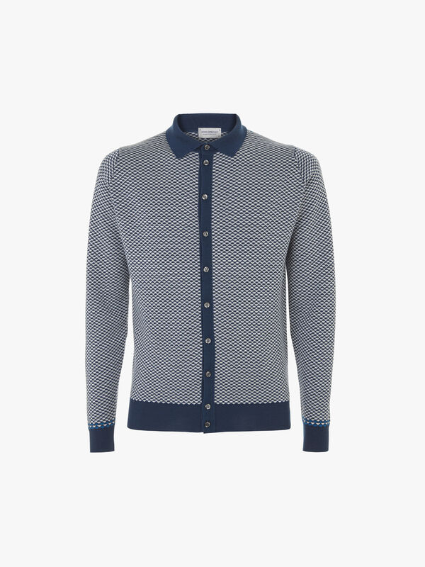 Regard Jacquard Knit Shirt