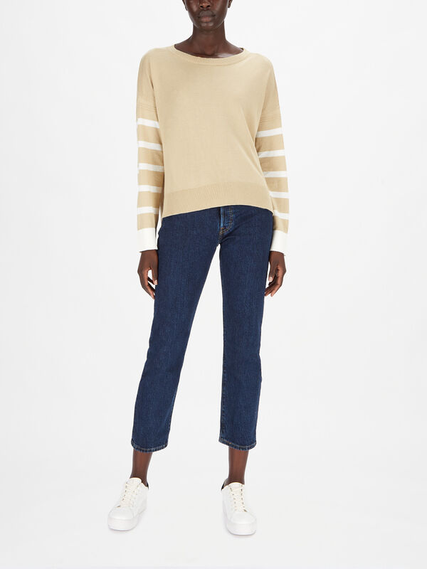 Knitted Striped Long Sleeve Sweater
