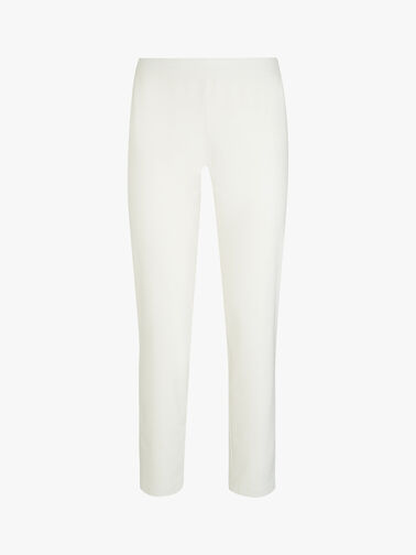 Washable Stretch Crepe Slim Ankle Pants