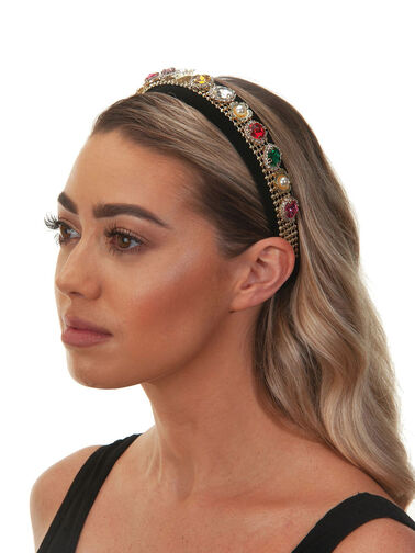 Assorted Gems and Flowers Crown Headband