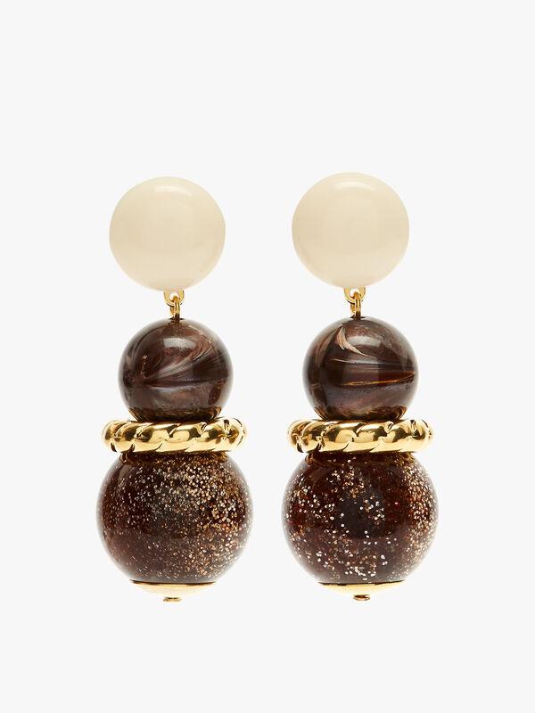 Small Ball Drop Clip Earrings
