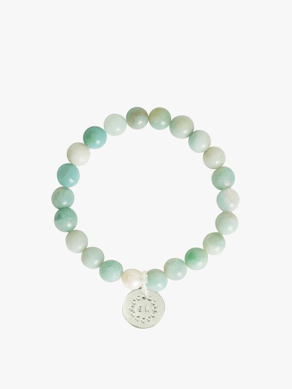 Amazonite Silver Maternity Bracelet