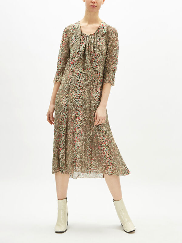 Python Floral Midi Dress