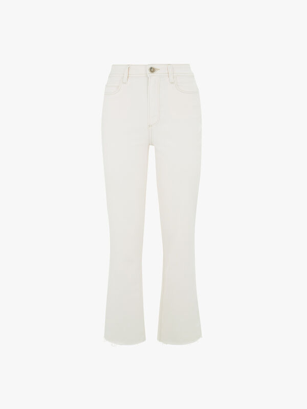 Ately Ankle Flare w/Raw Hem Jeans
