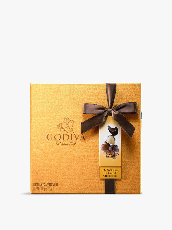 Gold Chocolate Box 14 Pieces 165g