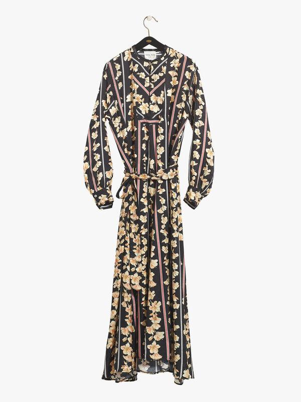 Guadaloupe Print Jacquard Kaftan Dress