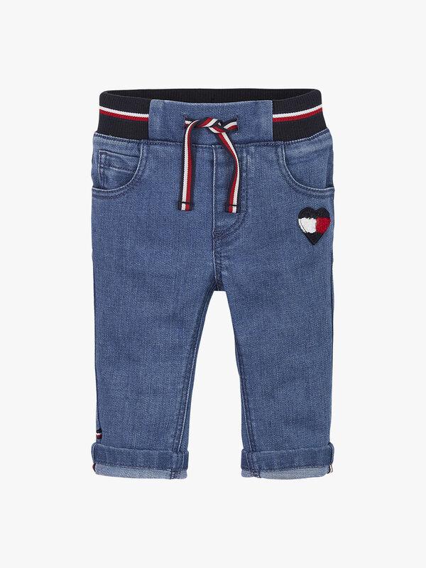 Flag Denim Pants